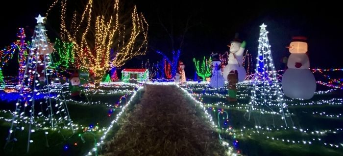 Christmas light display in Kentucky