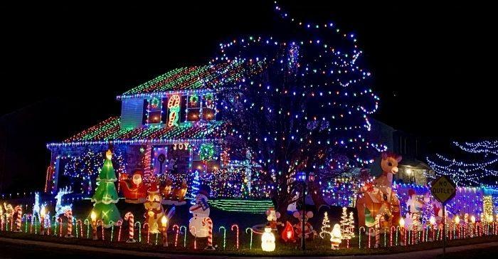 Christmas lights 1837 Northern Spy Drive Hebron Kentucky