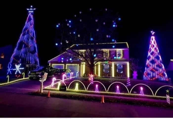 Lights on Tosha Christmas Light Display in Burlington Kentucky