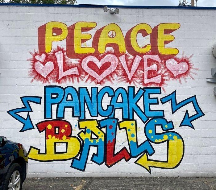 Peace love and pancake balls Katalina's in Columbus Ohio