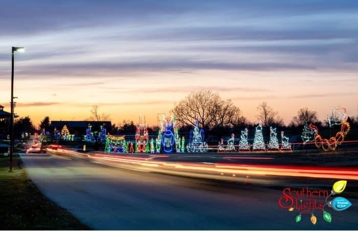 Southern Lights drive thru display in Kentucky