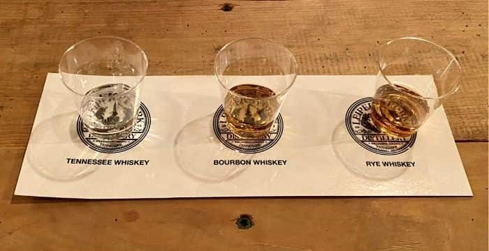 Whiskey tasting at Leiper's Fork Distillery