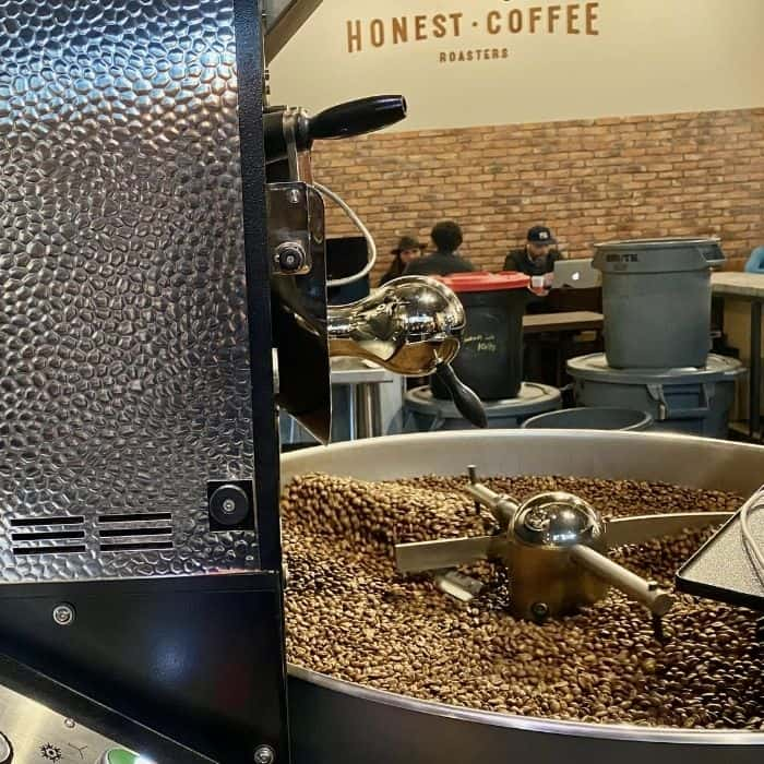coffee roasting at Honest Coffee at The Factory in Franklin TN
