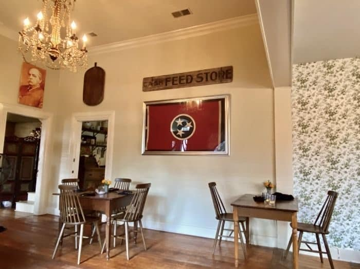 inside 1892 Restaurant in Leipers Fork
