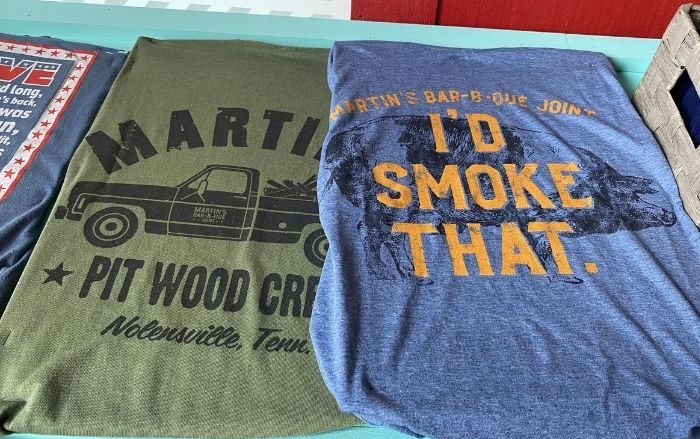 t shirts at Martin's Bar-b-que joint in Nolensville Tennessee