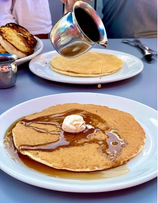 whispy thin pancakes at Sugar n' Spice Diner in Cincinnati