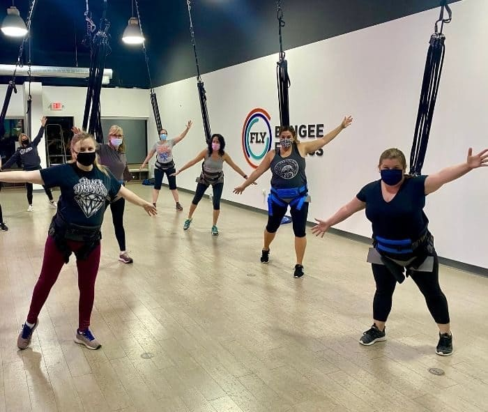 Adventure Mom meetup at FLY Bungee Fitness