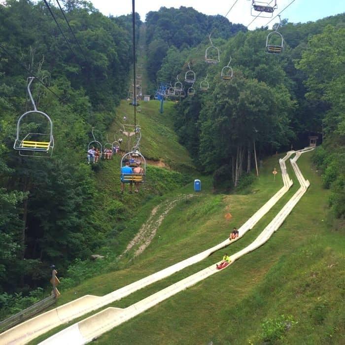 Alpine slide at Ober Gatlinburg in Tennessee