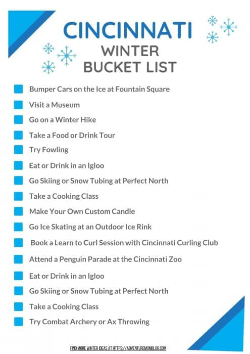Cincinnati Winter Bucket List