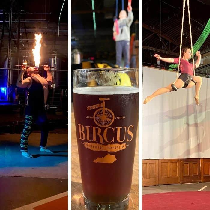 Circus Fun at Bircus Brewing Company in Ludlow Kentucky