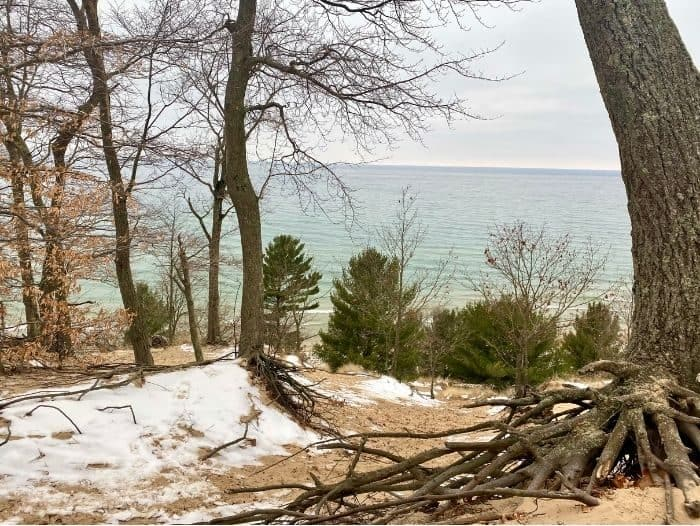 View of Lake Michigan from Highlands Loop Trail