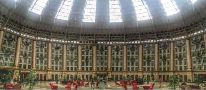 atrium under the dome in West Baden Hotel