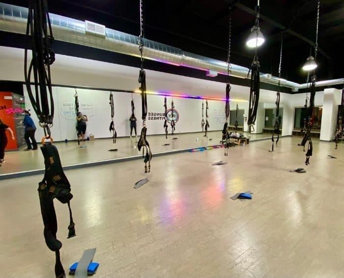 bungee cord fitness class in Cincinnati