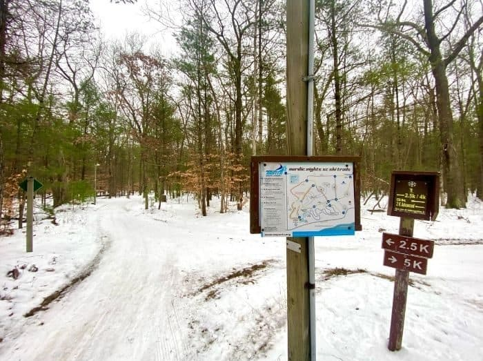 cross country skiing trails at Muskegon Luge Adventure Park