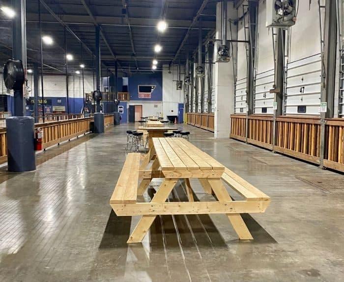 extra seating area at Fowling Warehouse Cincinnati