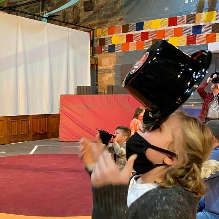 hat trick during Family Matinee Circus and Workshop at Bircus Brewing Company