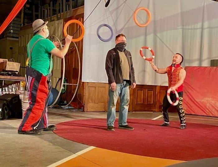 jugglers during Family Matinee Circus and Workshop at Bircus Brewing Company