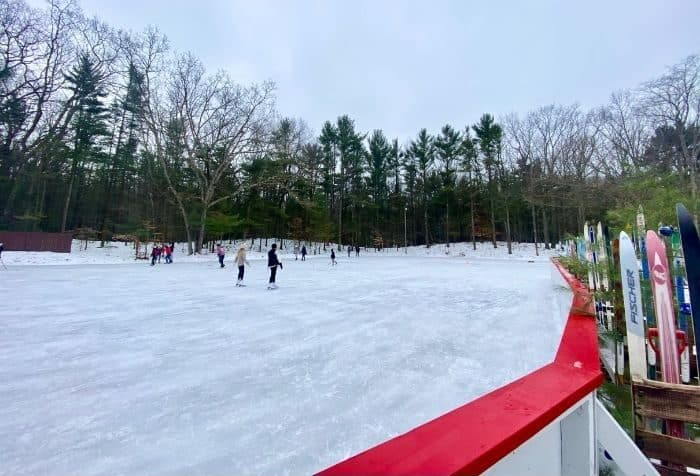 outdoor ice skating rink at Muskegon Luge Adventure Park