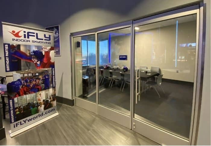party room at iFLY Cincinnati