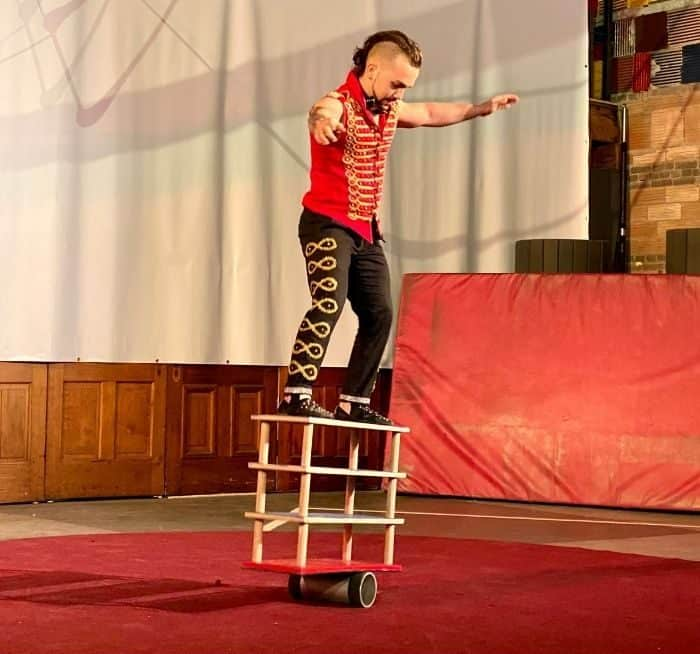 rola-bola during Family Matinee Circus and Workshop at Bircus Brewing Company