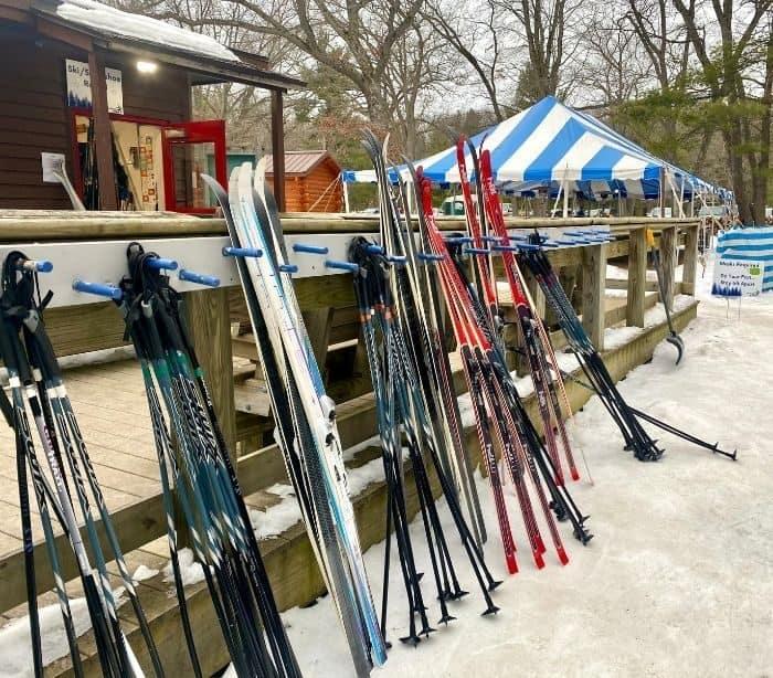 ski rentals at Muskegon Luge Adventure Park