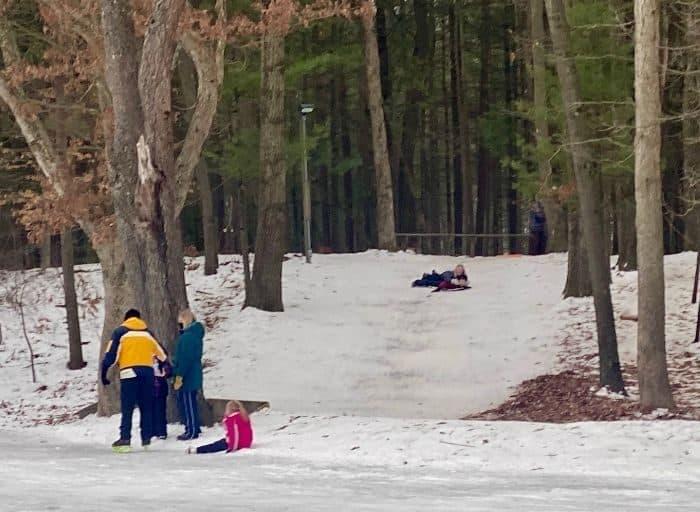 sledding hill at Muskegon Luge Adventure Park