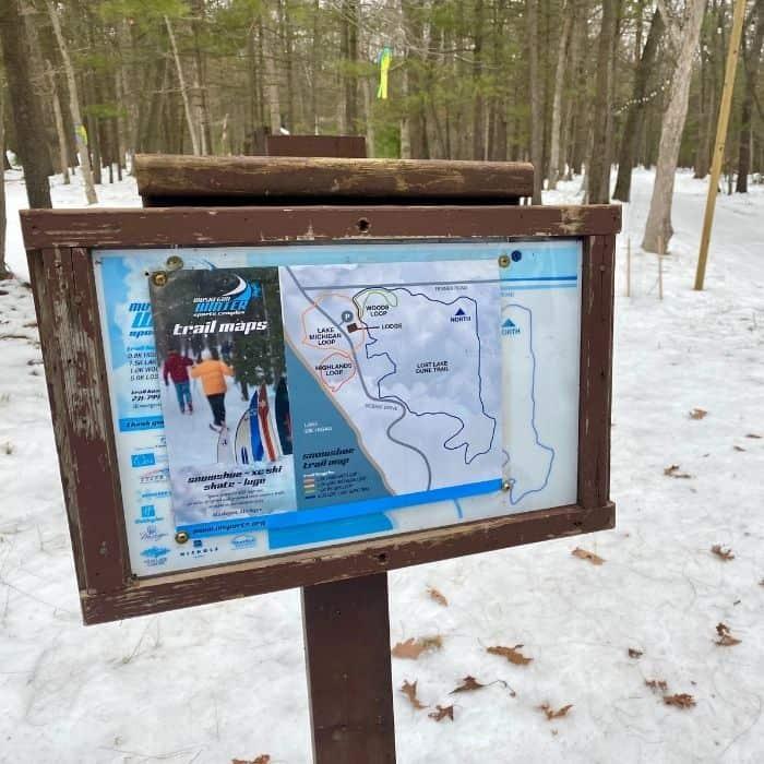 snowshoe trails at  Muskegon Luge Adventure Park