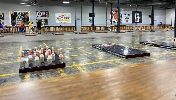 special event space for fowling at Fowling Warehouse Cincinnati