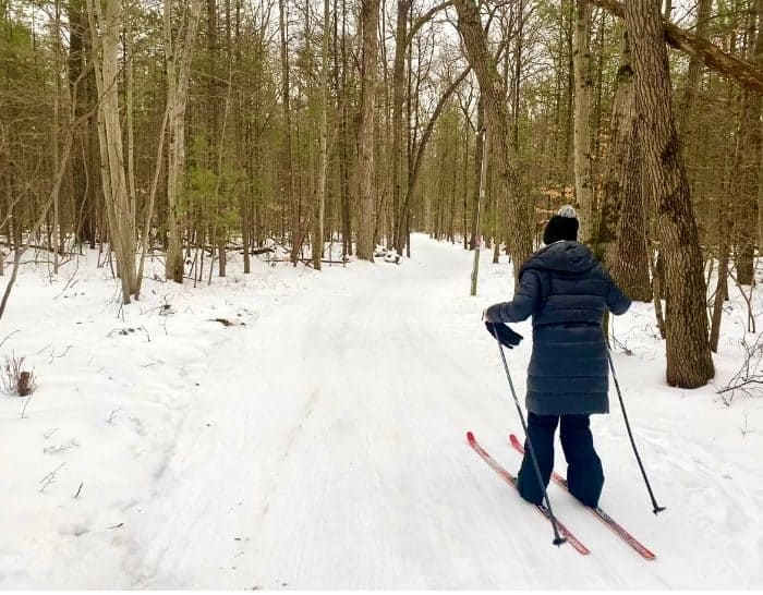 woman cross country skiing at Muskegon Luge Adventure Park