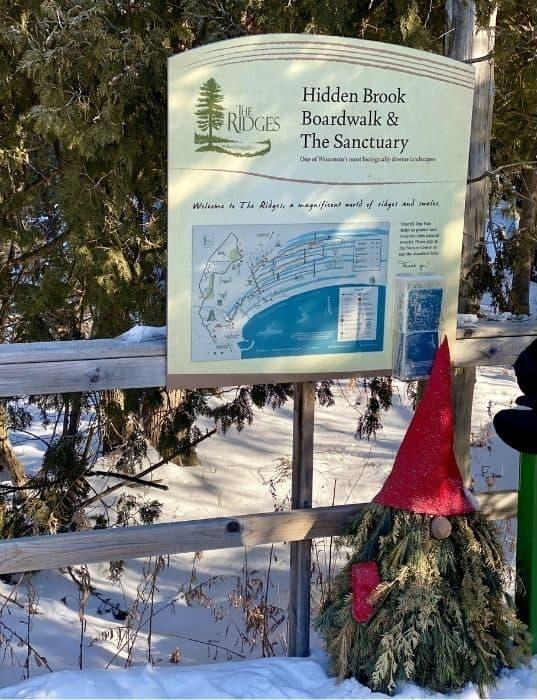 Hidden Brook Boardwalk at The Ridges Sanctuary in Wisconsin