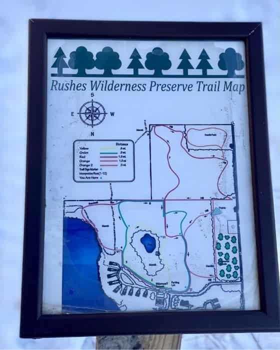 Rushes Wilderness Preserve Trail Map