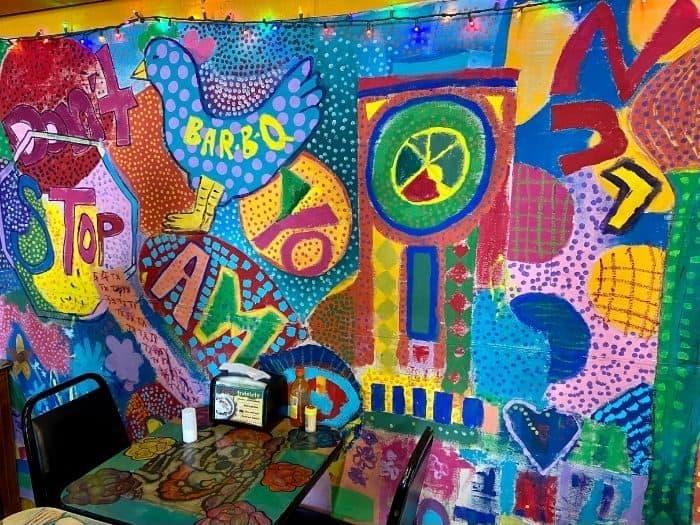 art on walls at Tacos La Bamba