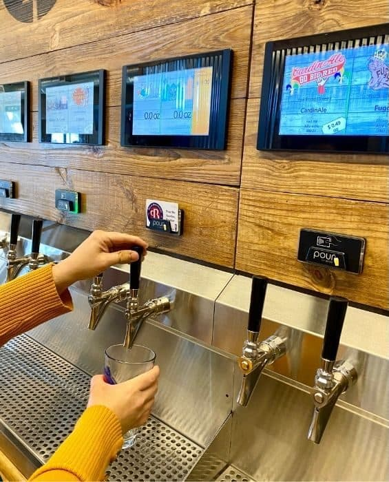 beer self pour at Pour Brothers Brewery