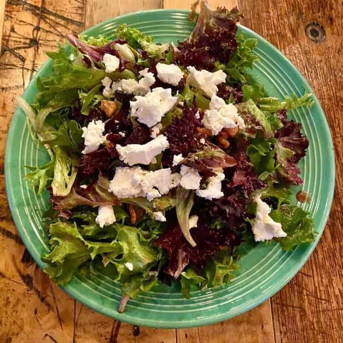 cherry walnut salad at Wild Tomato
