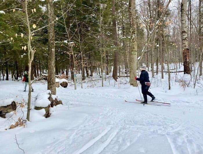 cross country skiing at Peninsula State Park