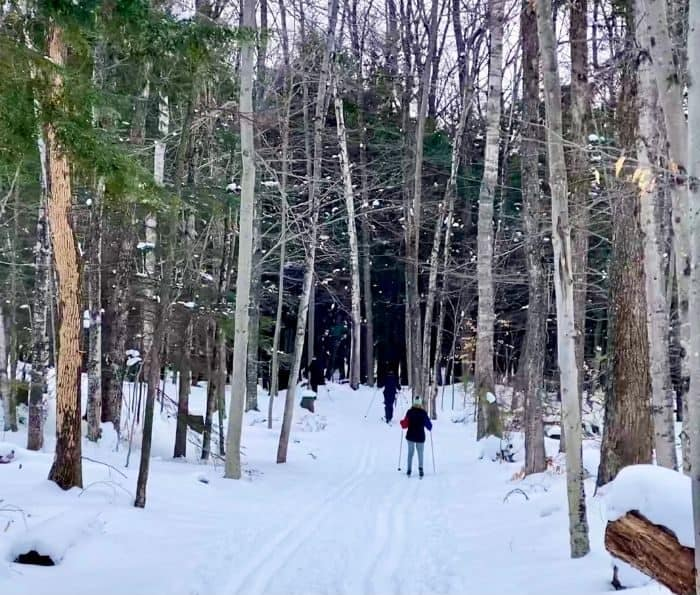 cross country skiing at Peninsula State Park in Door County Wisconsin