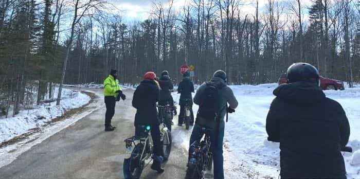 e-bike ride to Cave Point County Park