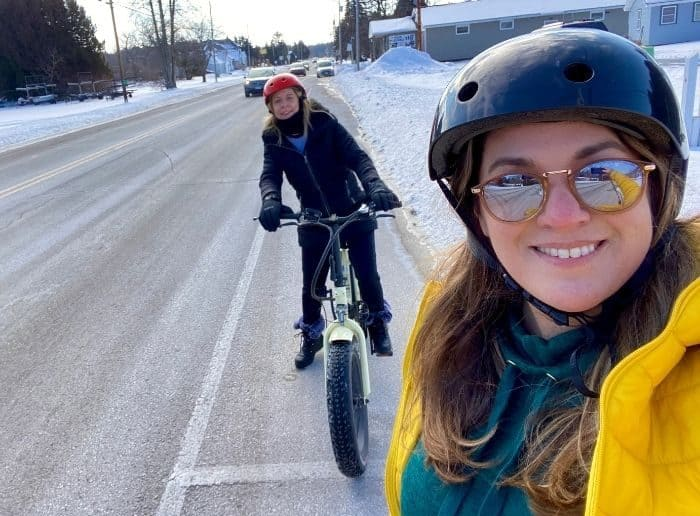 fat tire e- bike ride with Cave Point Paddle and Peddle