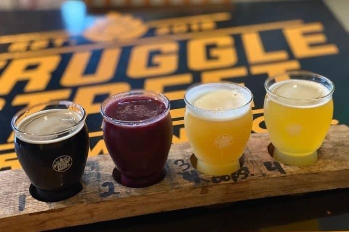 flight at Struggle Street Brewing Company