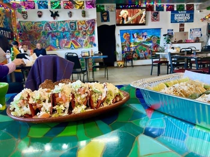 food at Tacos La Bamba
