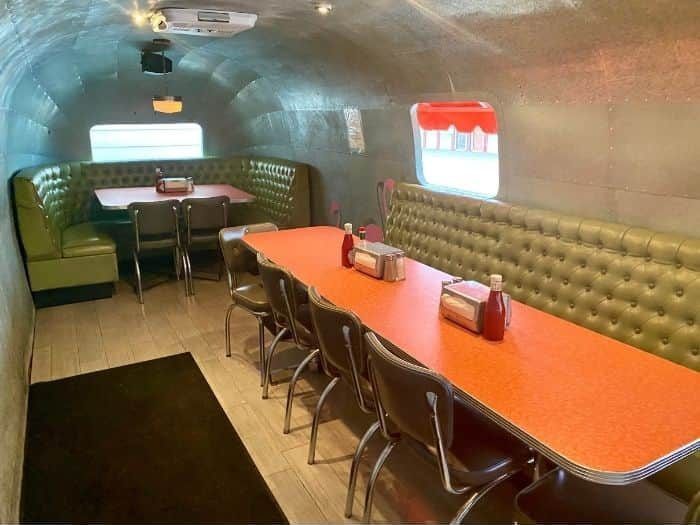 inside Airstream at Willy Burger