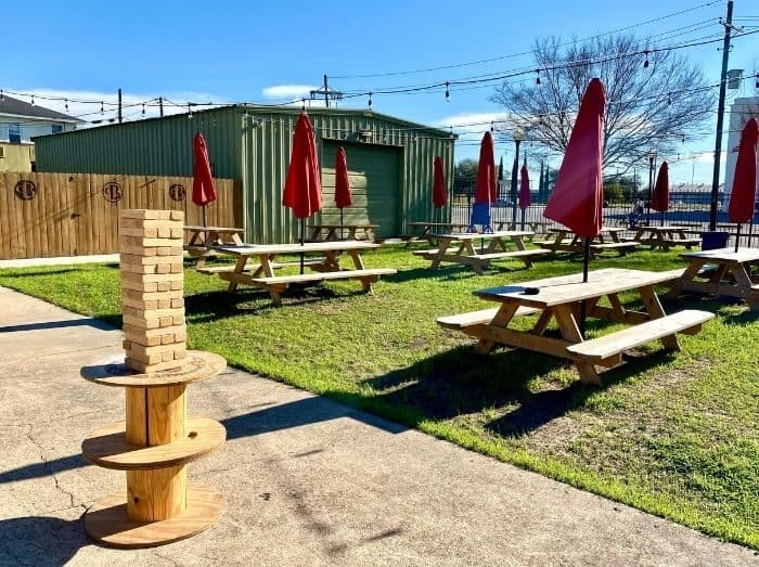 outdoor area at Pour Brothers Brewery
