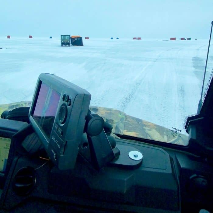 ride to the ice shanty