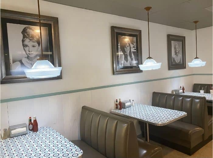 seating area at Willie Burger