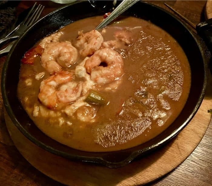 shrimp and grits at J Wilson's Beaumont Texas