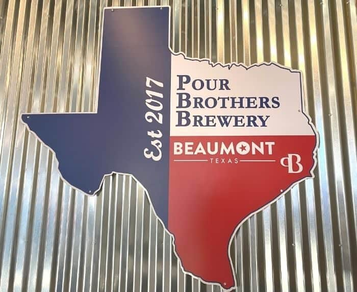 sign at Pour Brothers Brewery
