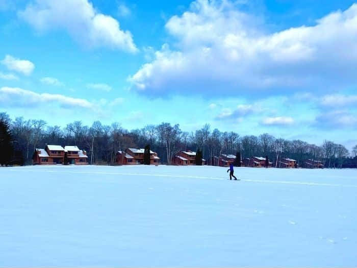 snowshoeing at The Rushes