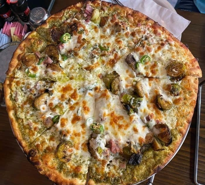 The Shangri La speciality  pizza at Crown Pizza
