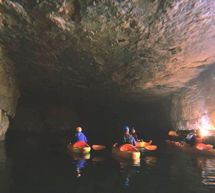 underground kayak tour Red River Gorge