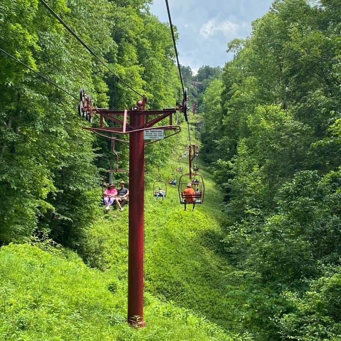 Skylift chairlift at Natural Bridge in Kentucky
